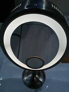 Jerdon HL9510N 8-Inch x 10-Inch Oval Lighted Vanity Mirror with 10X and 1X Ma...