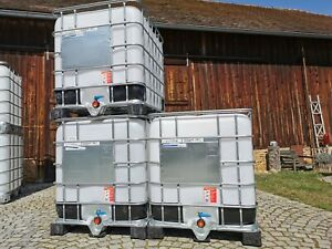 IBC Container Tank Fass Wassertank Kanister 1000 Liter Regentonne