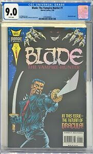 BLADE THE VAMPIRE HUNTER #1 CGC 9.0 :  HOLOCHROME LOGO : MIDNIGHT SONS : MCU