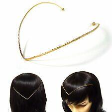 Simple Slim Gold Metal Back Headband Headpiece Hair Accessory Necklace Fashion