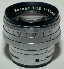 Zeiss Sonnar 50mm f/1.5 lens for Contax IIa/IIIa RF camera good for digital
