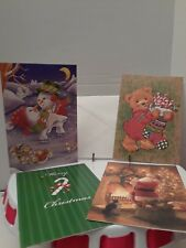 """4 different Christmas cards by Fantus Paper Products 6-3/4"""" by 4-1/2"""" (M102)"""