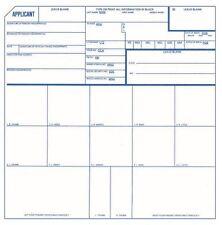Qty. 3 FBI Fingerprint Card Form FD258 FD-258 Applicant Background Check