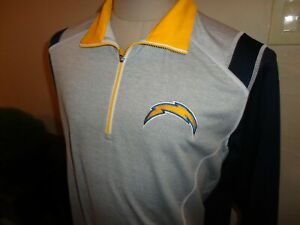 San Diego Chargers NFL Football Sewn 1/4 zip Pullover Shirt  Adult M Excellent