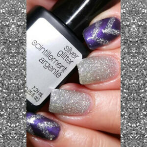 Genuine Sensationail Sensational #71740 Silver Glitter Purple Orchid  Gel Polish