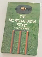 VERY RARE VICTOR RICHARDSON + GREG AND IAN CHAPPELL CRICKET SIGNED AUTOBIOGRAPHY