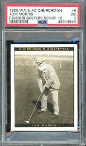 1928 W.a. & A.C. Churchman Famous Golfers Series of 12 Misc #8 Tom Morris PSA 3