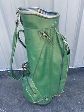 Vintage Wilson Cart Golf Bag - 14-Way Divider, Single Strap, Green - GO RETRO!!!