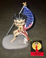 BETTY BOOP Collectible Figurine: Star Spangled USA - God Bless America #6642