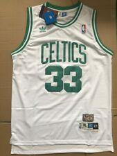 Mens Adult Larry Joe Bird Boston Celtics  Basketball Jerseys #33 White