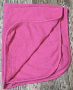 Parents Choice Thermal Waffle Weave Solid Pink Baby Girl Blanket 24x28 EUC J5
