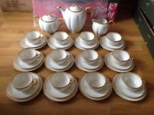 RARE Frank Haviland ( Limoges ) Stunning 39 Piece Tea Set White with Gold Trim.