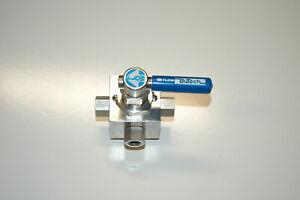 """Butech 5k103 5-way 10000 psi valve 1/4"""" npt"""