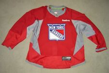 New York Rangers red PRO Reebok game used practice jersey