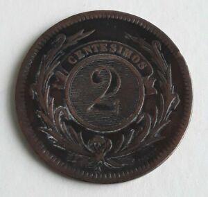 1869 A Uruguay 2 Centesimo