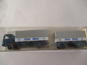 Wiking 1:87 Man Flatbed Truck Elbe Fruit, Unrecorded IN The Box