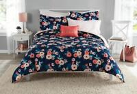 Floral Comforter Bedding Set Bed in a Bag Full Size Bedroom Decor Sheets 8 Piece