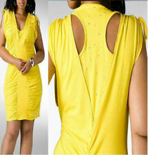 NWT Dereon OPEN BACK Studded Spell Bound yellow  Dress sz 3X PLus Size