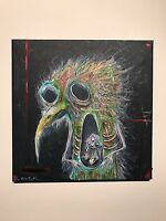 GUS FINK Art ORIGINAL painting Abstract Outsider Lowbrow Modern DARK MOTHER