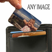 Personalised Aluminium Wallet Card Keepsake Purse Image Any Photo Text Gift Mum