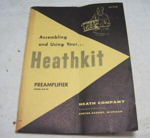 HEATHKIT WA-P2 PREAMPLIFIER ASSEMBLY MANUAL==ORIGINAL!