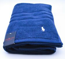 Polo Ralph Lauren Bath Towel In Navy Blue Cotton New With Tags RRP £45 Genuine