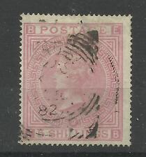 1867/83 Sg 126/7, 5/- Rose (EB) Plate 2, Fine used. {5000-23}