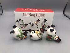 Fitz & Floyd Holiday Home Set of 3 Snowmen Tumbler Figurines w/ Box