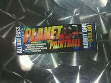Planet paintball, 1/3, paper ticket, all day pass, admit one