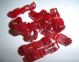 (25) 3M 951 T-TAP Quick Wire Connectors Red 22-18 AWG Gauge Car Audio Terminals