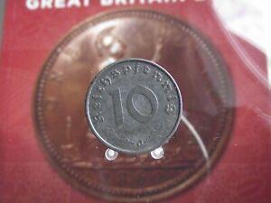 GERMANY-THIRD REICH 10 REICHSPFENNIG 1942 J