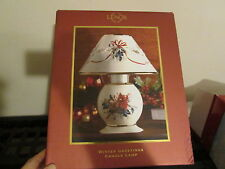 Lenox Winter Greetings Cardinal Candle Lamp EUC