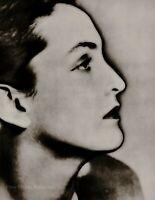 1933/75 Vintage MAN RAY Solarized MERET OPPENHEIM Woman Portrait Photo Art 12x16