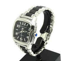 Mens DAVID YURMAN Throughbred Automatic Watch Black Dial Cable Design T301-L DY
