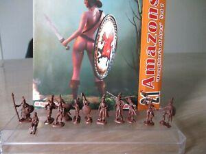 Figurines 1/72 Linear Amazons la boite+1 grappe, Atlantic, Airfix, Hat...