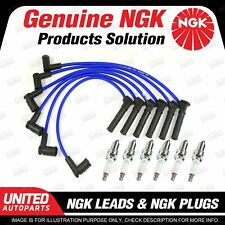6 x NGK Spark Plugs + Ignition Leads Set for Land Rover Discovery Series 3 4.0L
