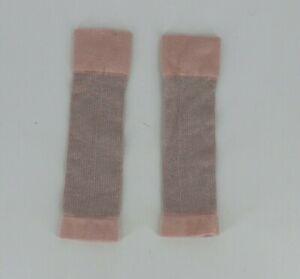 Dance Wear Little Girls Leg Warmers Socks One Size Light Pink Gray Glitter