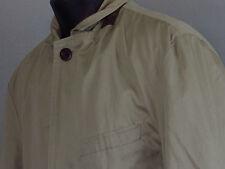 Men's NATIONAL GEOGRAPHIC Khaki Traval Blazer Jacket + Hidden Pockets Safari M