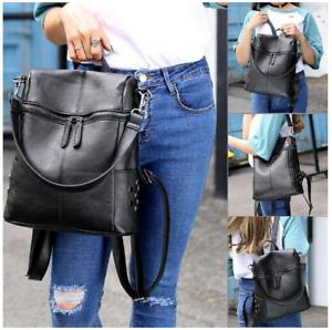 Diebstahlsicherer Lederrucksack für Damen Rucksack Reisetasche Schultasche