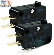 Omron Micro Limit Switch V 15 1c25 15a 125250vac E66d Pack Of 2