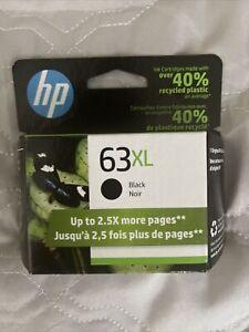 Genuine HP 63XL Black Ink Cartridge EXP April 2023 SEALED