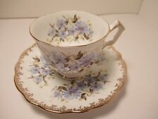 VERY PRETTY AYNSLEY ENGLISH CHINA CUP&SAUCER  WHITE BLUE GOLD EXC. COND!