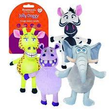 Rosewood Tough Safari Squeaky Soft Dog Pet Toy - Elephant Giraffe Hippo Zebra