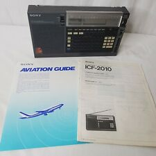 Sony Model ICF-2010 Portable AM FM Shortwave Receiver Manual Aviation Guide