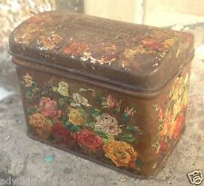 1898 W. Wissotzky and Co. Antique Tea Tin Box Russia Empire Tsarist