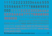 1//72 Decals für deutche Turmnummern in schwarz 713