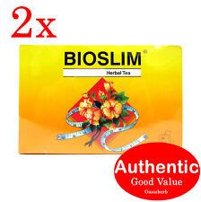 2X Bioslim Tea - Bio Slim Herbal Tea Bags 30's (New!)
