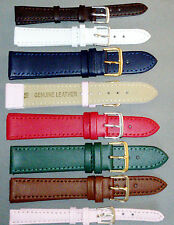 COLOUR COLLECTION GENUINE LEATHER Watch Strap Band AS USED BY JEWELLERS Better