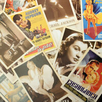 32pcs Vintage Postcards European American Super Stars Photo Poster Retro Cards