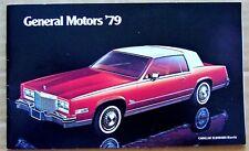 SALES BOOKLET ~ 1979 GENERAL MOTORS ~ CHEVY PONTIAC OLDSMOBILE BUICK CADILLAC